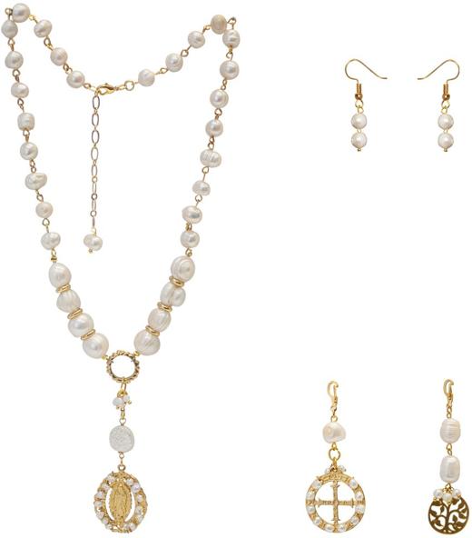 21639475fc06 Collar de 8 perlas barrocas