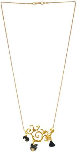 ebcdb2eb0d52 Collar placa griega y cadena chapa de oro de 14 K